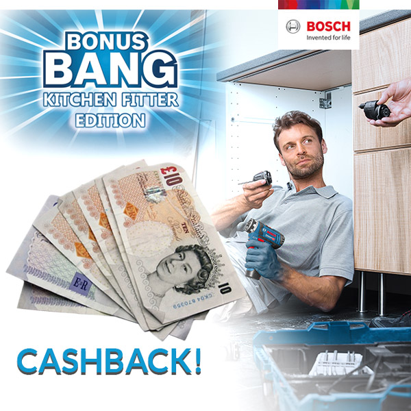 Cashback on Selected Bosch Tools