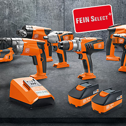Fein Select+ Cordless Tool Range