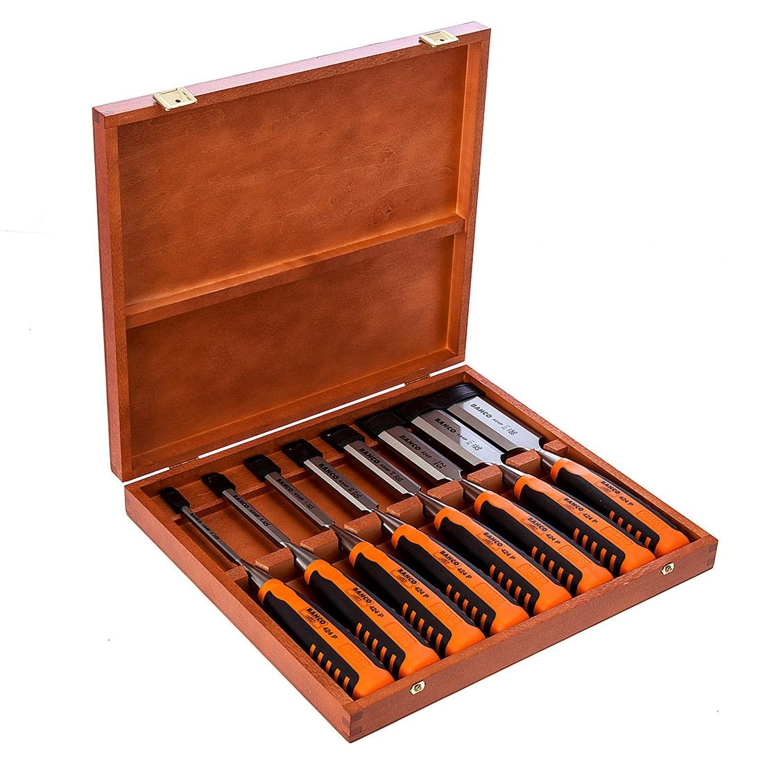 Bahco 424P-S8-EUR B/E Chisel Set 8 Pcs