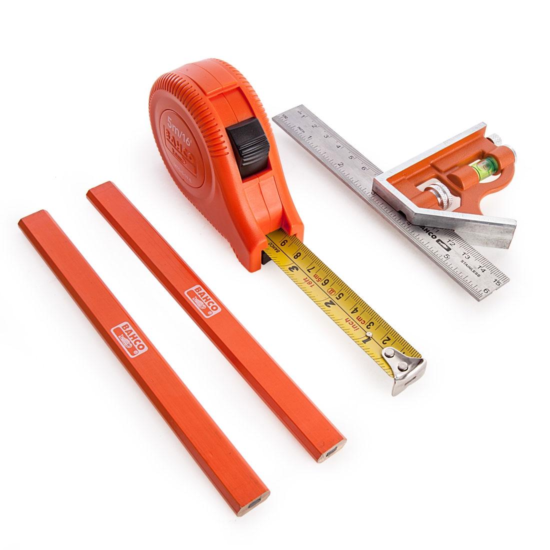 Bahco CS150PACK Carpenters Measuring Pack 4 Pcs