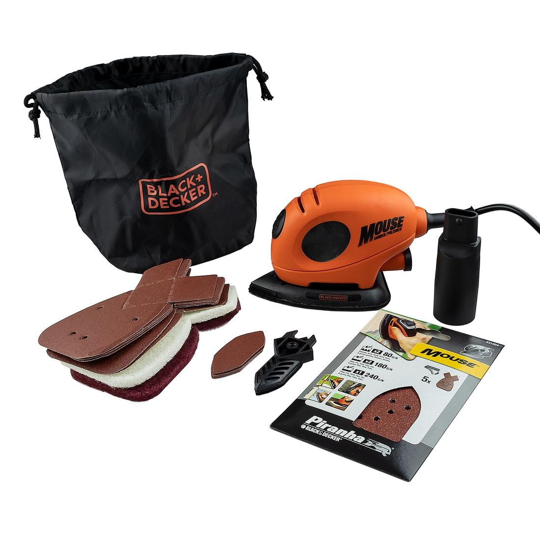 Black+Decker KA161BC Mouse Sander inc 20 Accessories 240v