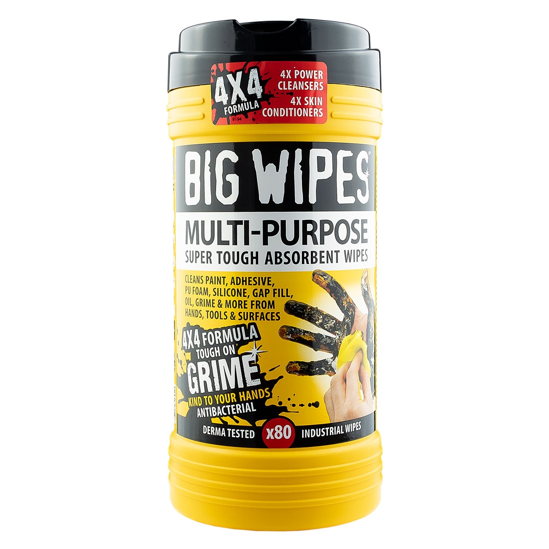 BIG WIPES Multi-Purpose 4x4 Wipes - Black Top