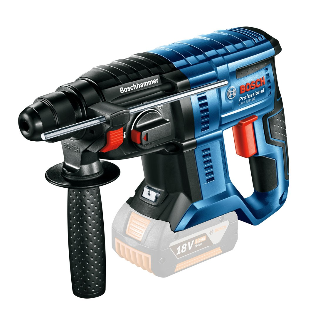 bosch gbh 18 v 20 sds plus cordless rotary hammer body only 0611911000 powertool world. Black Bedroom Furniture Sets. Home Design Ideas