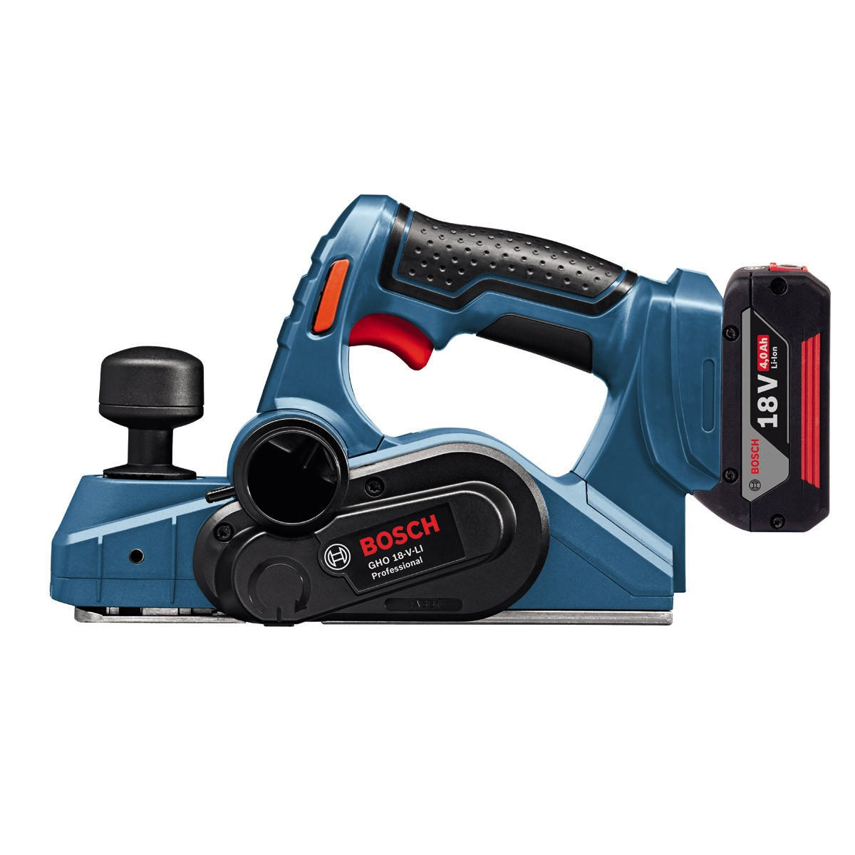 bosch gho 18 v li professional cordless planer inc 2x 4 0ah batteries al 1860 cv charger and l. Black Bedroom Furniture Sets. Home Design Ideas