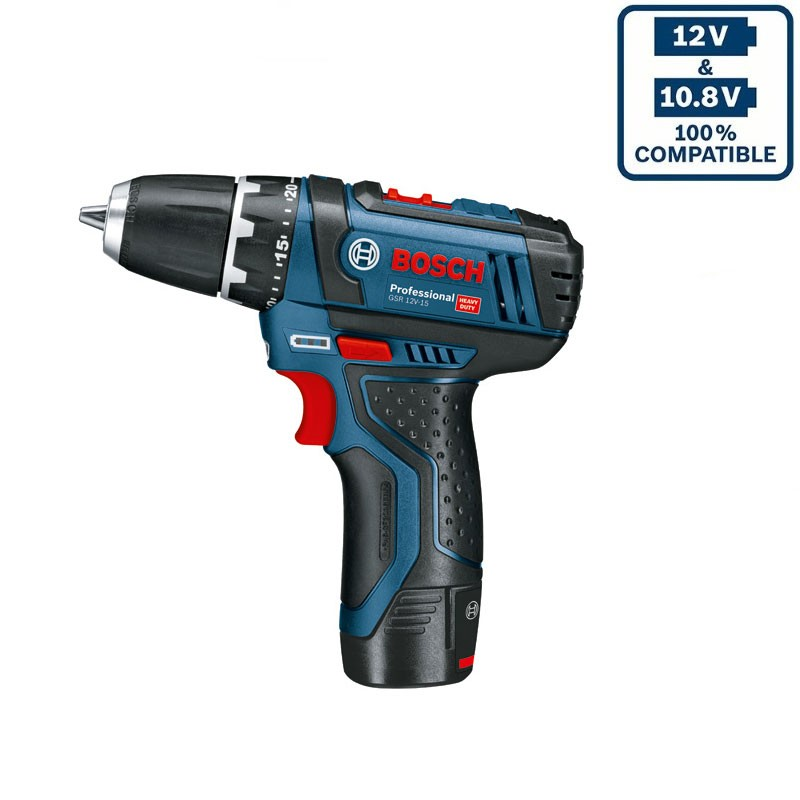 bosch gsr 12v 15 professional drill driver body only 0601868101 powertool world. Black Bedroom Furniture Sets. Home Design Ideas