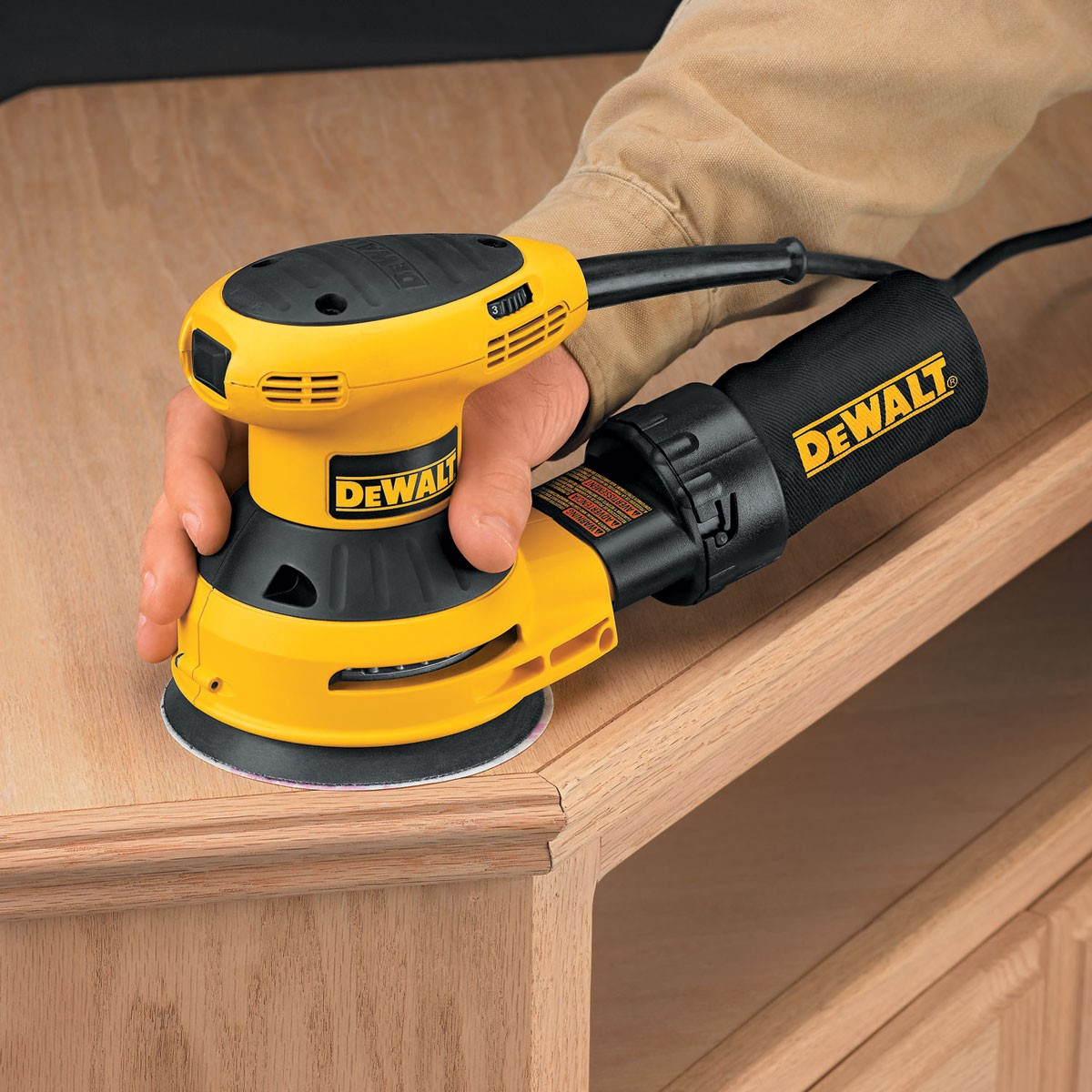Dewalt D26453 125mm Random Orbit Palm Grip Sander 240v
