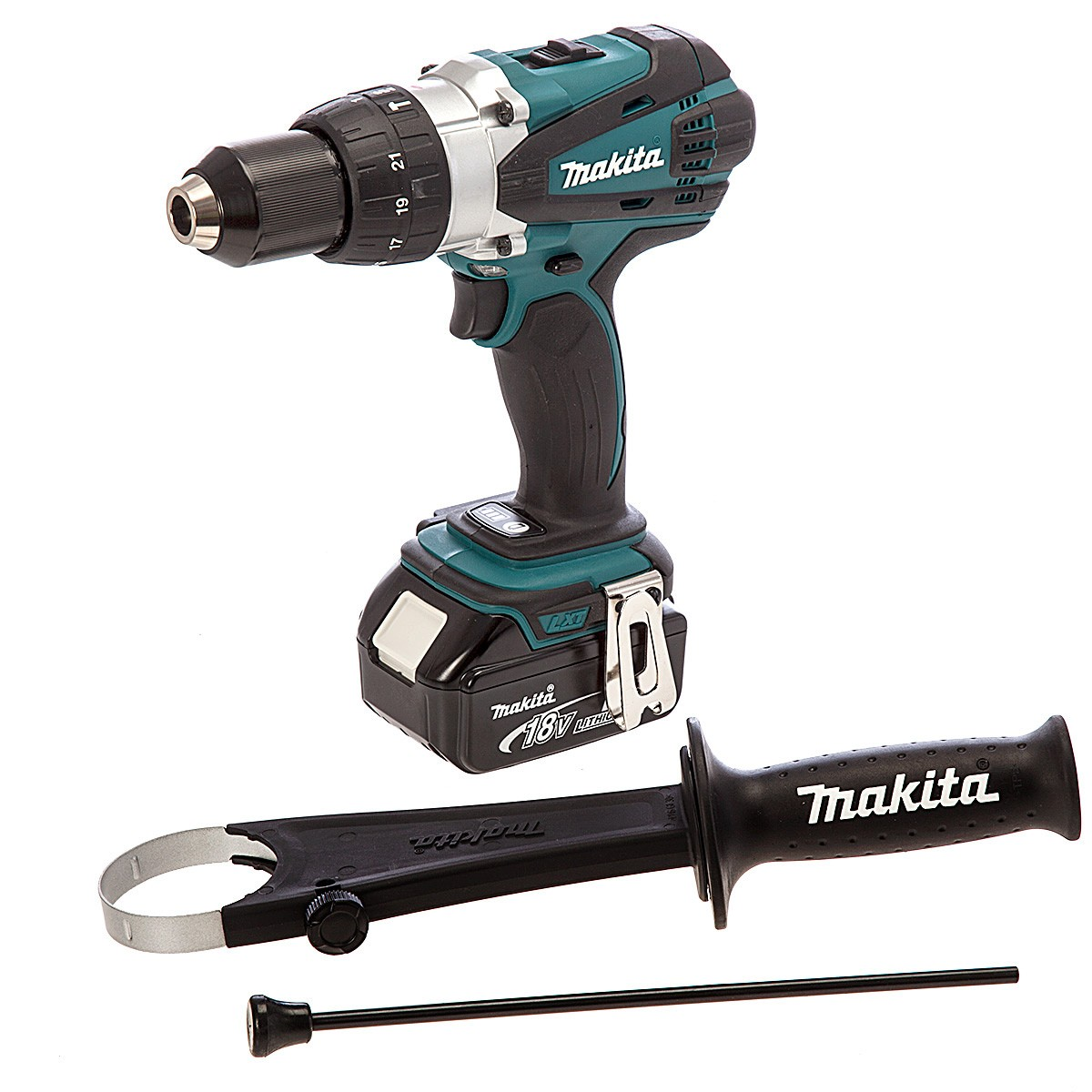makita dlx2005x2 18v cordless impact driver combi drill. Black Bedroom Furniture Sets. Home Design Ideas