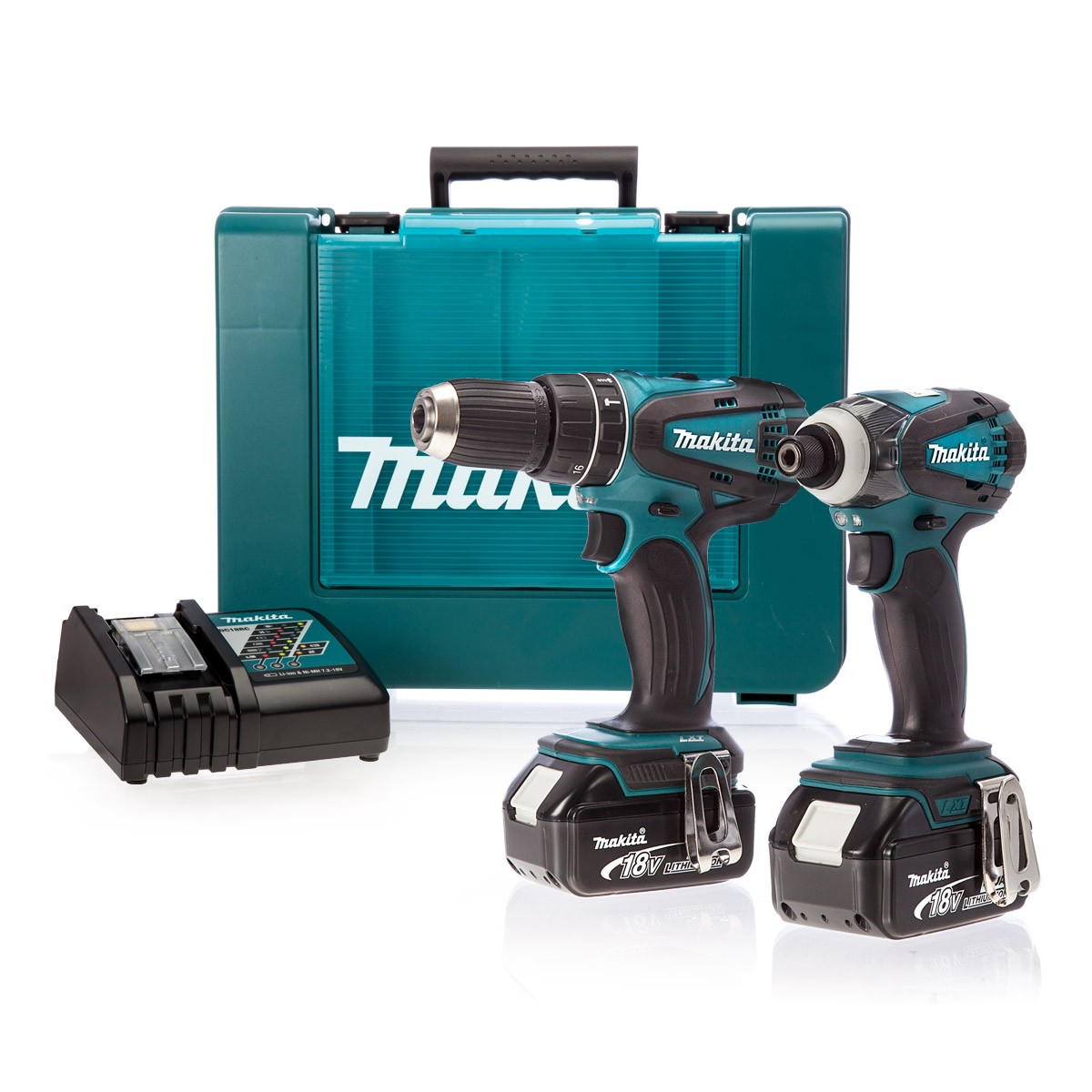 makita dlx2012mx 18v combi drill impact driver 2 x 4ah. Black Bedroom Furniture Sets. Home Design Ideas