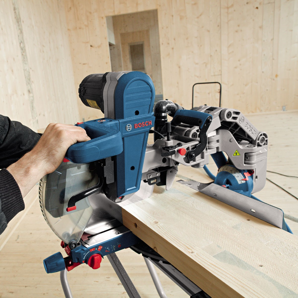 bosch gcm 12 gdl 12 double bevel glide professional mitre saw powertool world. Black Bedroom Furniture Sets. Home Design Ideas