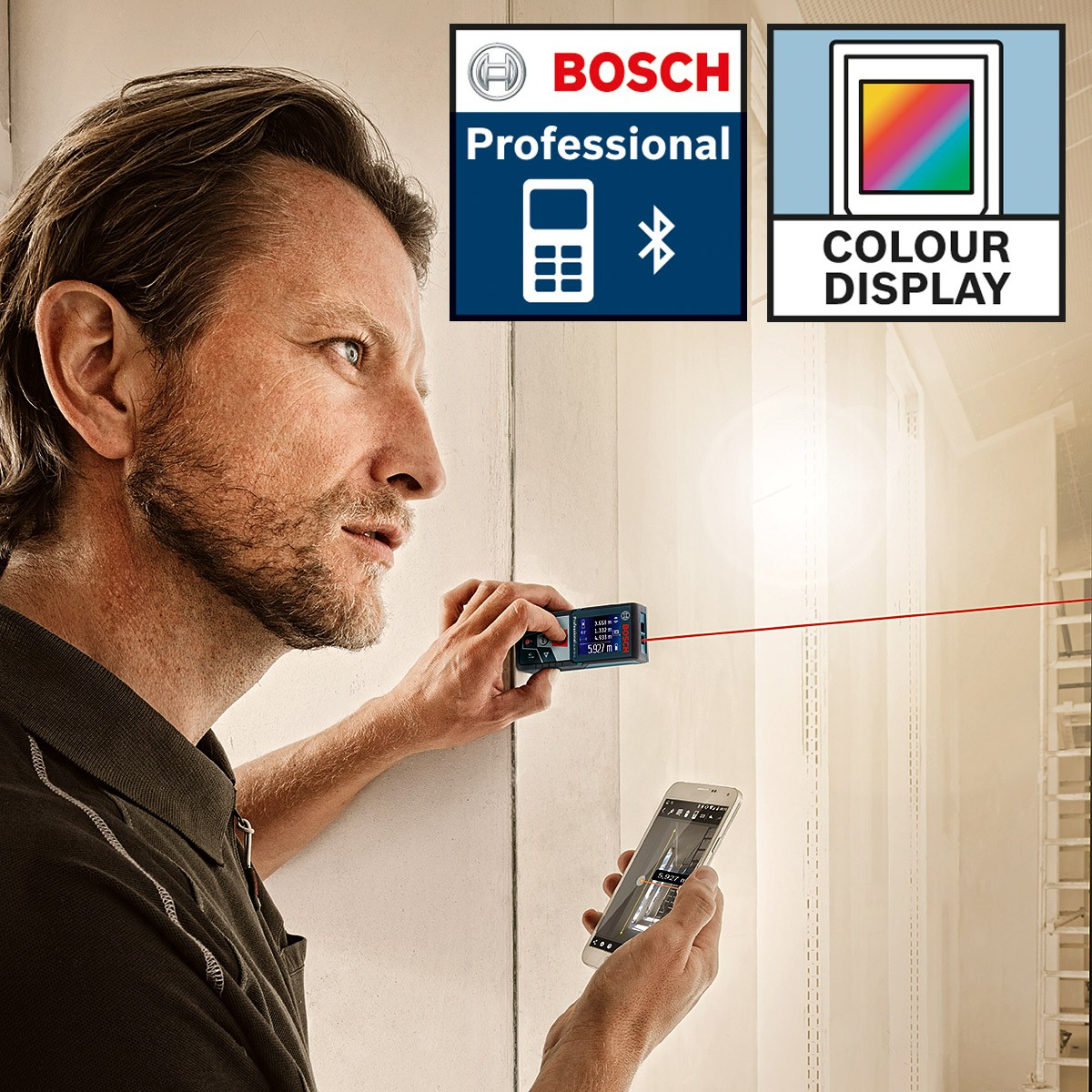 bosch glm 50 c professional laser rangefinder powertool world. Black Bedroom Furniture Sets. Home Design Ideas