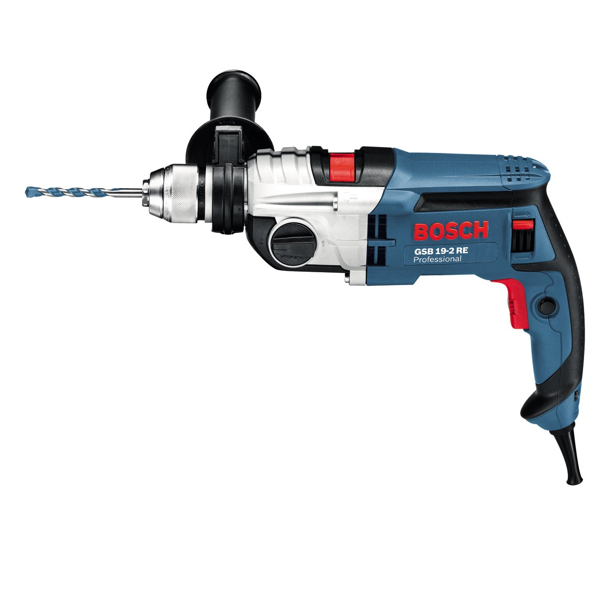 bosch gsb 19 2 re two speed 850w impact percussion drill powertool world. Black Bedroom Furniture Sets. Home Design Ideas