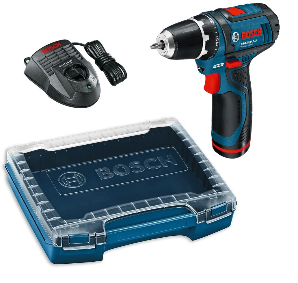 bosch gsr 10 8 2 li drill driver inc 1x 2 0ah battery in i. Black Bedroom Furniture Sets. Home Design Ideas
