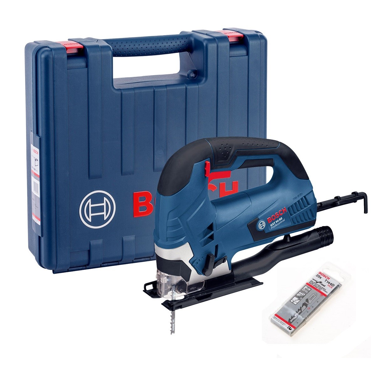 bosch gst 90 be 90mm bow handle jigsaw in carry case 25 blades powertool world. Black Bedroom Furniture Sets. Home Design Ideas