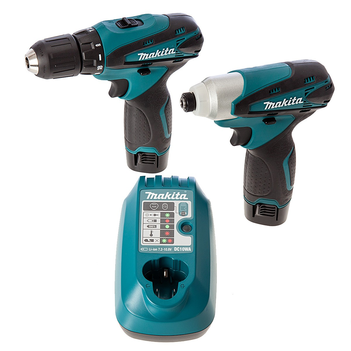 makita lct204 10 8v lxt twin pack drill driver impact. Black Bedroom Furniture Sets. Home Design Ideas