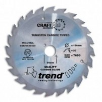 Trend CSB/NC18430 Blade TC 184 x 30 th. x 16 nail cutting