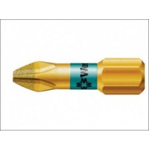 Wera 851/1 BDC Phillips BiTorsion PH1 Insert Bit Diamond Coated 25 mm 073332