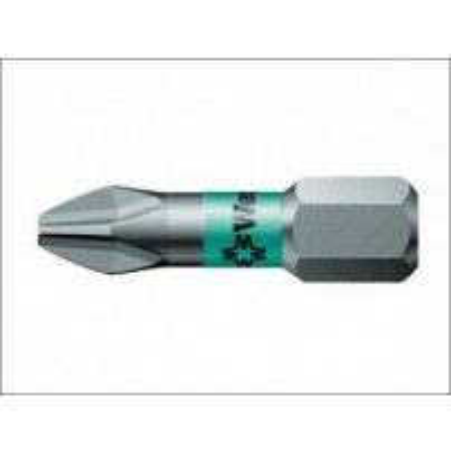 Wera 851/1 BTZ Phillips BiTorsion PH2 Extra Tough Bit 25mm Pack of 2 073361
