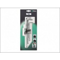 Wera Hex Key Set 9 Piece Ballpoint Metric Chrome Plated (1.5-10mm)