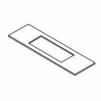 Trend WP-LOCK/A/T/1 LOCK/JIG/A template 20mm x 235mm faceplate (RE)