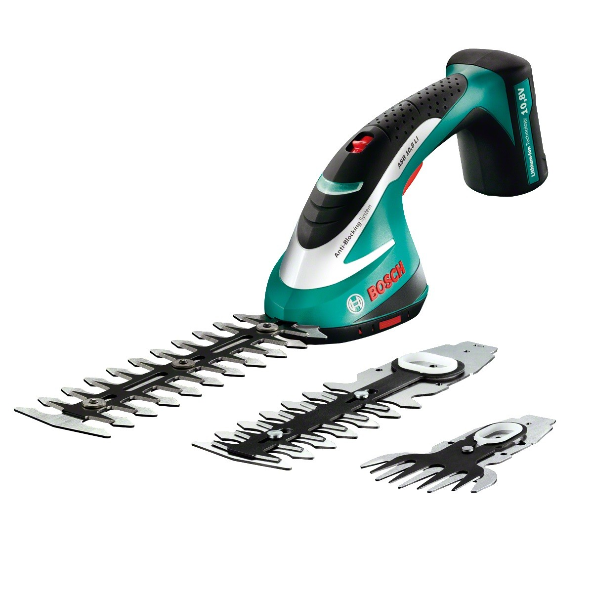 Bosch Green ASB 10.8 LI 10.8v Cordless Shrub & Grass Shear Set 0600856371