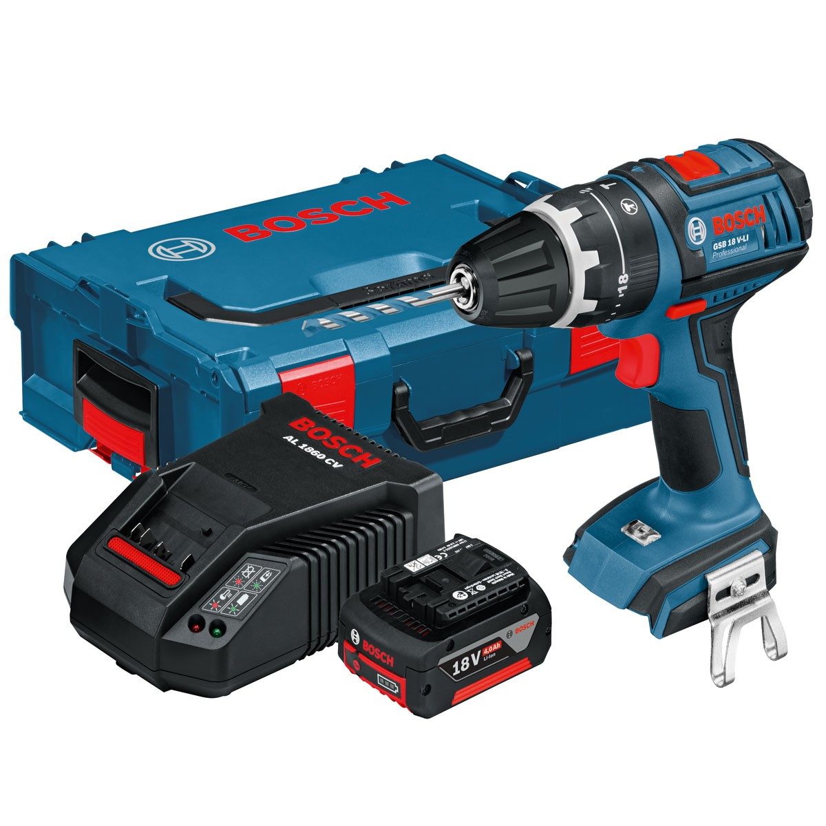 bosch gsb 18 v li combi drill dynamic series inc 1x 4ah battery 060186717e powertool world. Black Bedroom Furniture Sets. Home Design Ideas