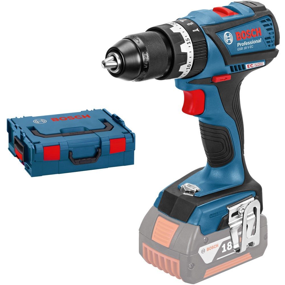 Bosch GSB 18 V-EC Professional Brushless Combi Drill Body Only in L-Boxx