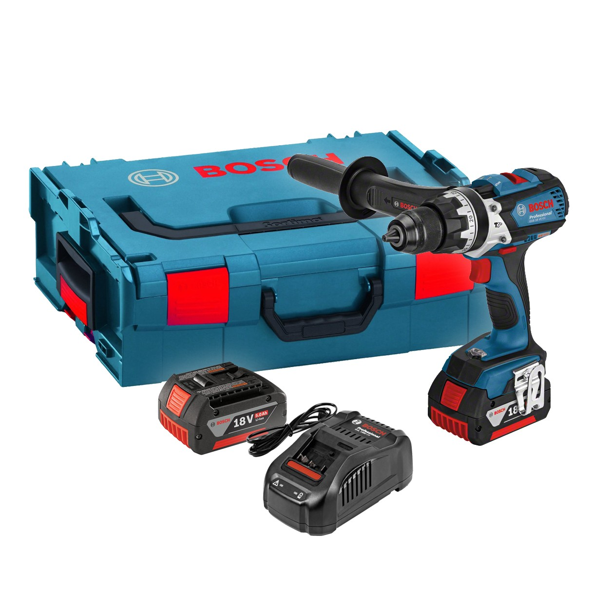 Bosch GSB 18 VE-EC RS Brushless Combi Drill inc 2x 5.0Ah Batts in L-Boxx 06019F1372
