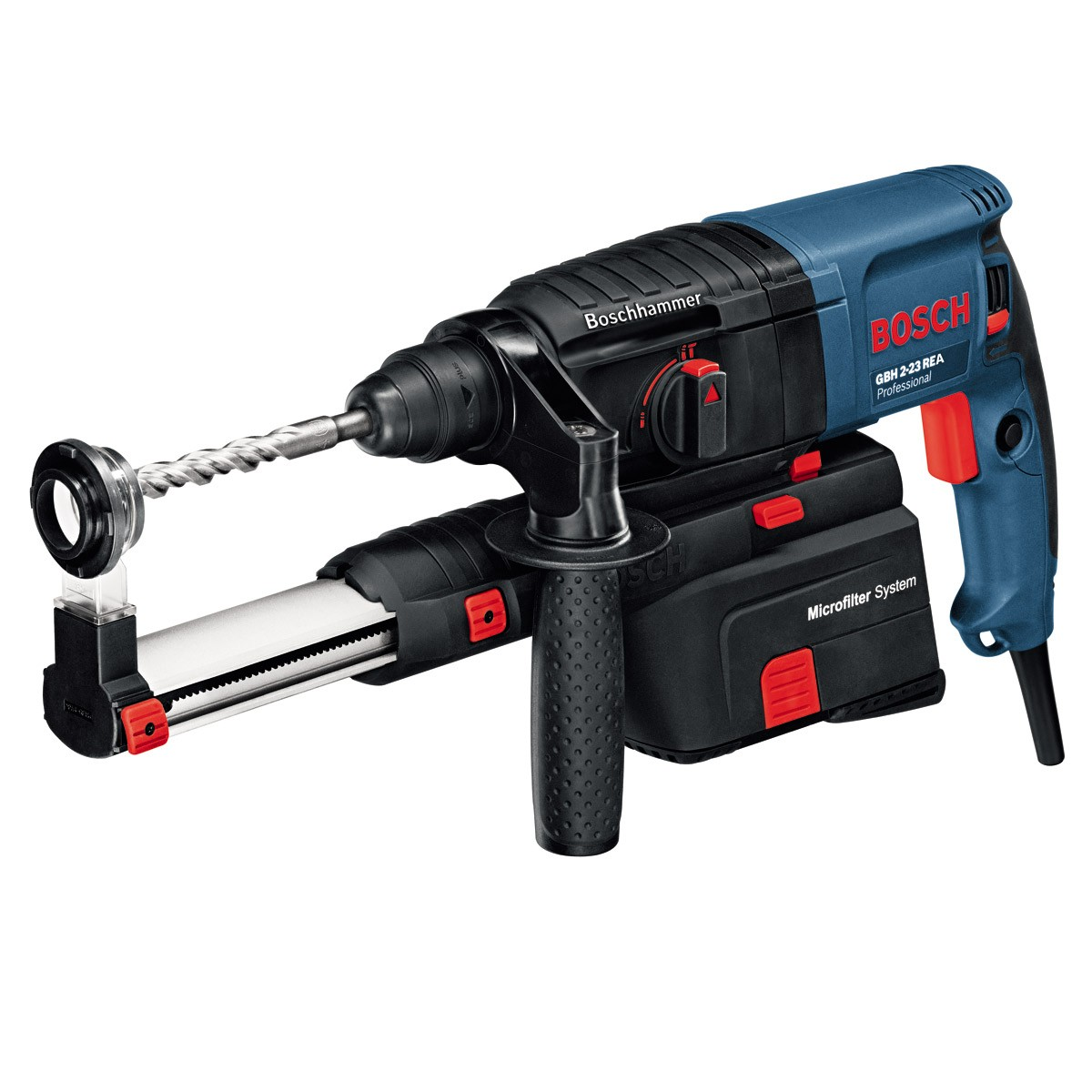Bosch GBH 2-23 REA SDS+ Rotary Hammer Inc Dust Extraction in Carry Case