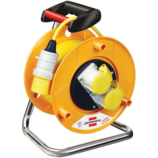 Brennenstuhl 1148863 Garant Heavy Duty 2-Socket Extension Cable Reel 50 Metre 110v