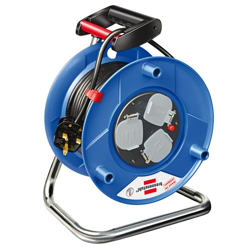 Brennenstuhl 1208063 Garant Heavy Duty 3-Socket Extension Cable Reel 50 Metre 240v