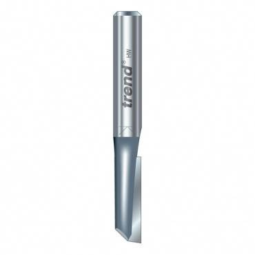 Trend 2/61X1/4TC Single flute cutter 6.3 mm dia.