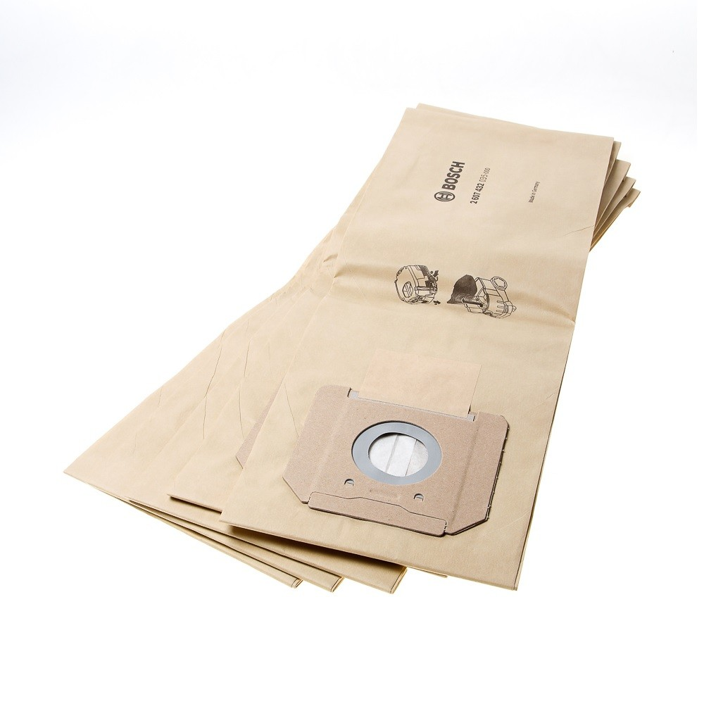 Bosch Paper Filter Bags for GAS 35 Dust Extractors Pack of 5 2607432035