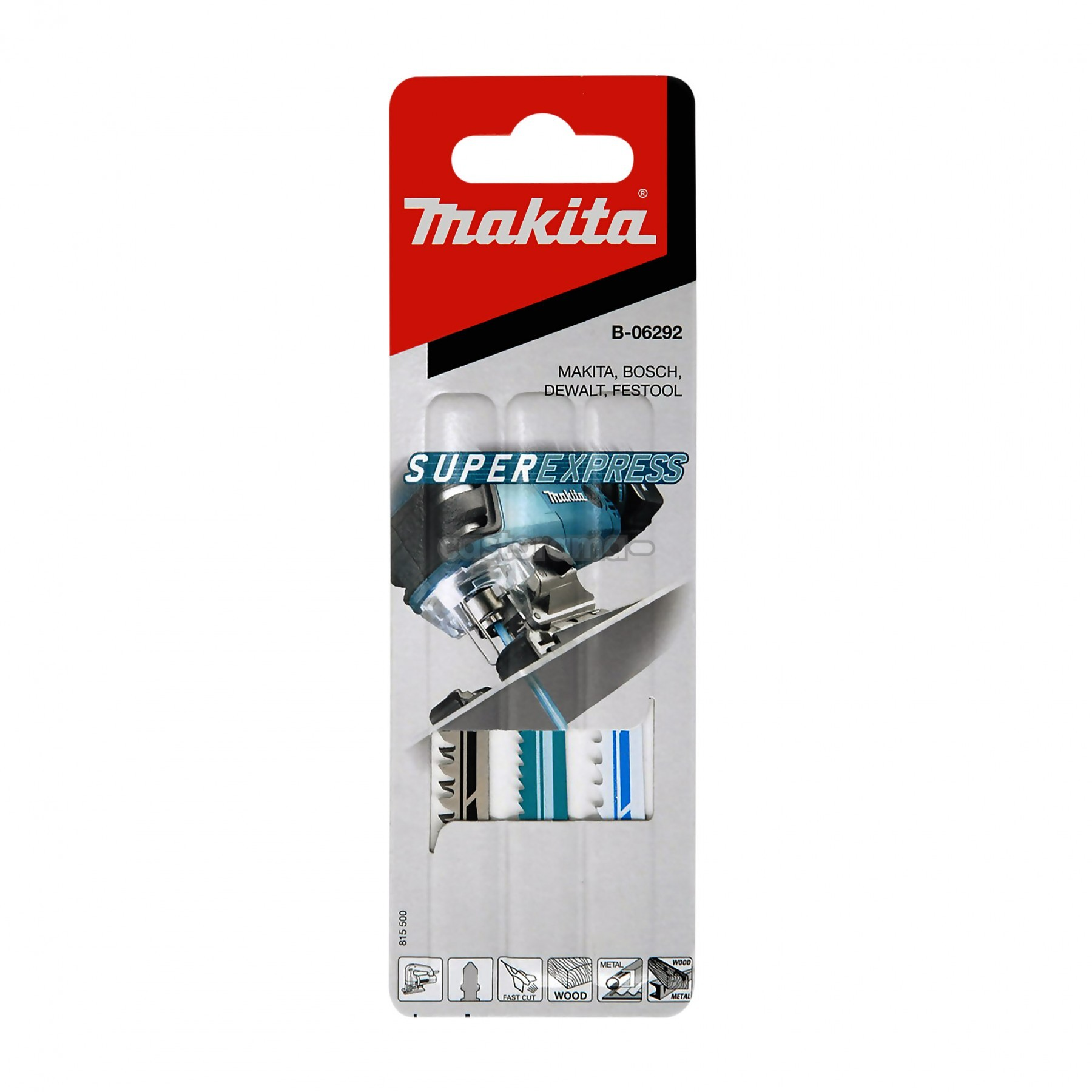 Makita B-06292 Super Express Jigsaw Blade Set x3 Blades for Wood & Metal