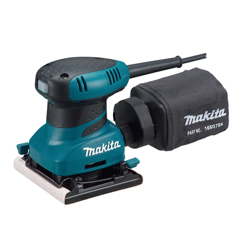 Makita BO4556 Clamp Finishing Palm Sander inc Dustbag 240v