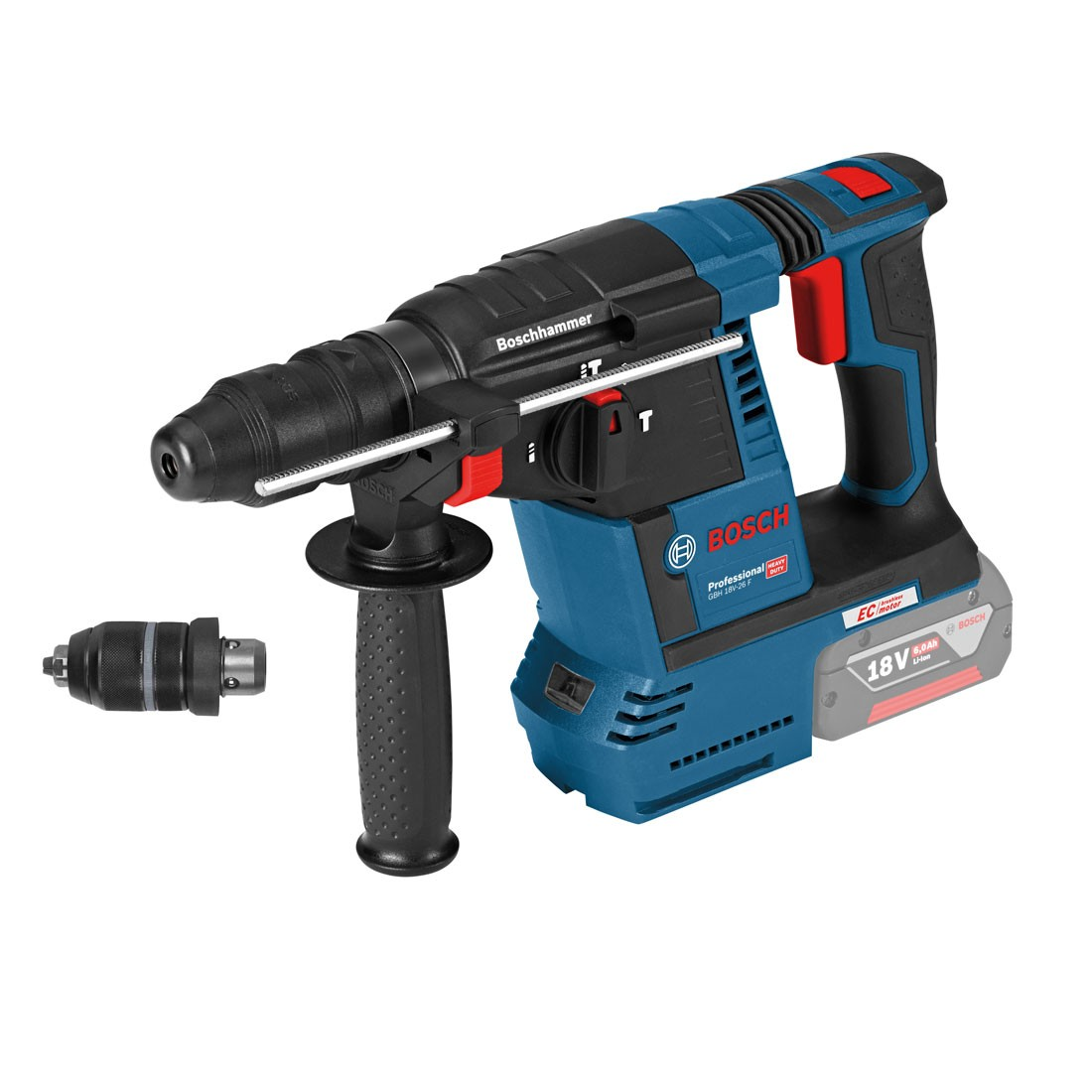 bosch gbh 18 v 26 f sds plus brushless rotary hammer body only inc qcc 0611910000 powertool world. Black Bedroom Furniture Sets. Home Design Ideas