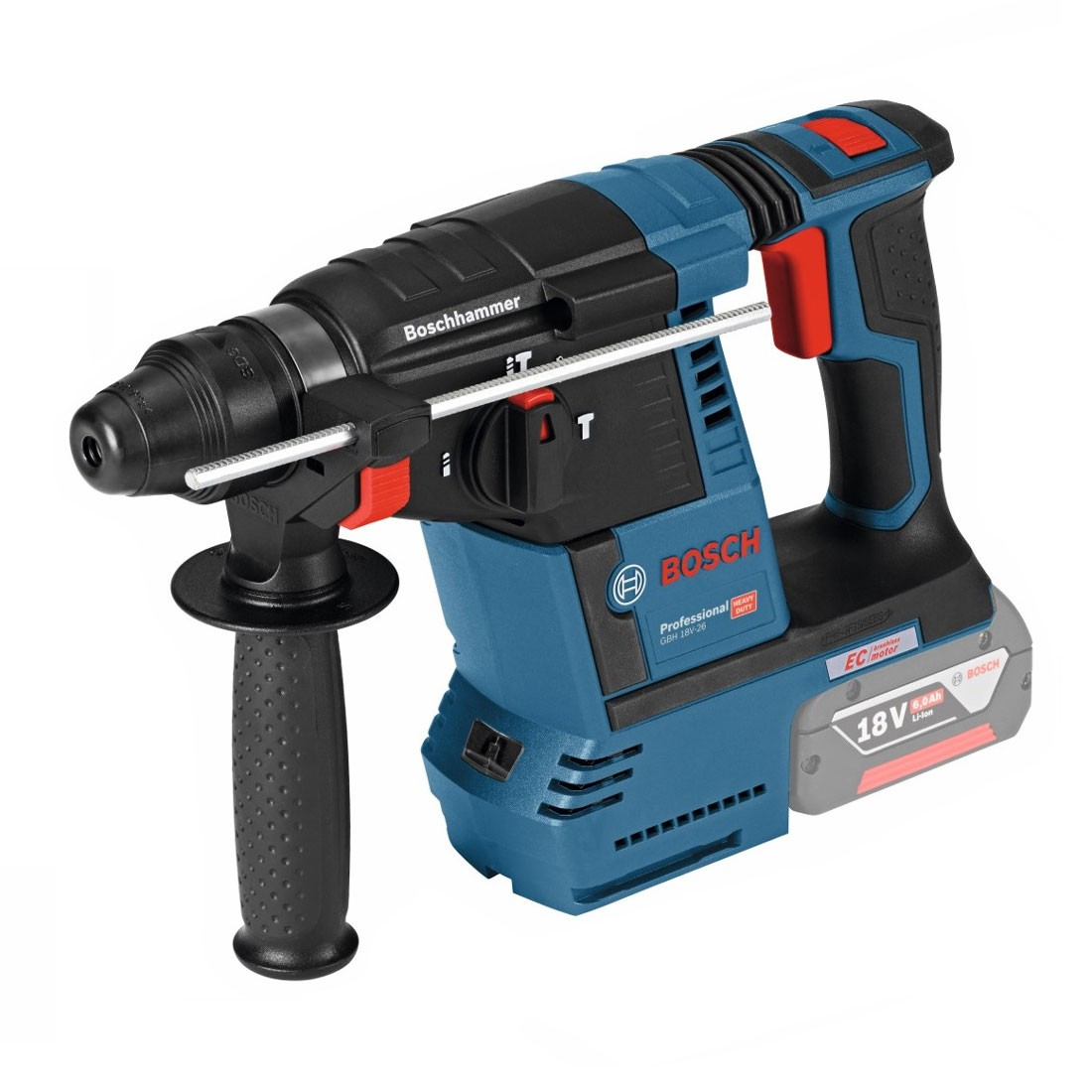 bosch gbh 18 v 26 sds plus brushless rotary hammer body only 0611909000 powertool world. Black Bedroom Furniture Sets. Home Design Ideas