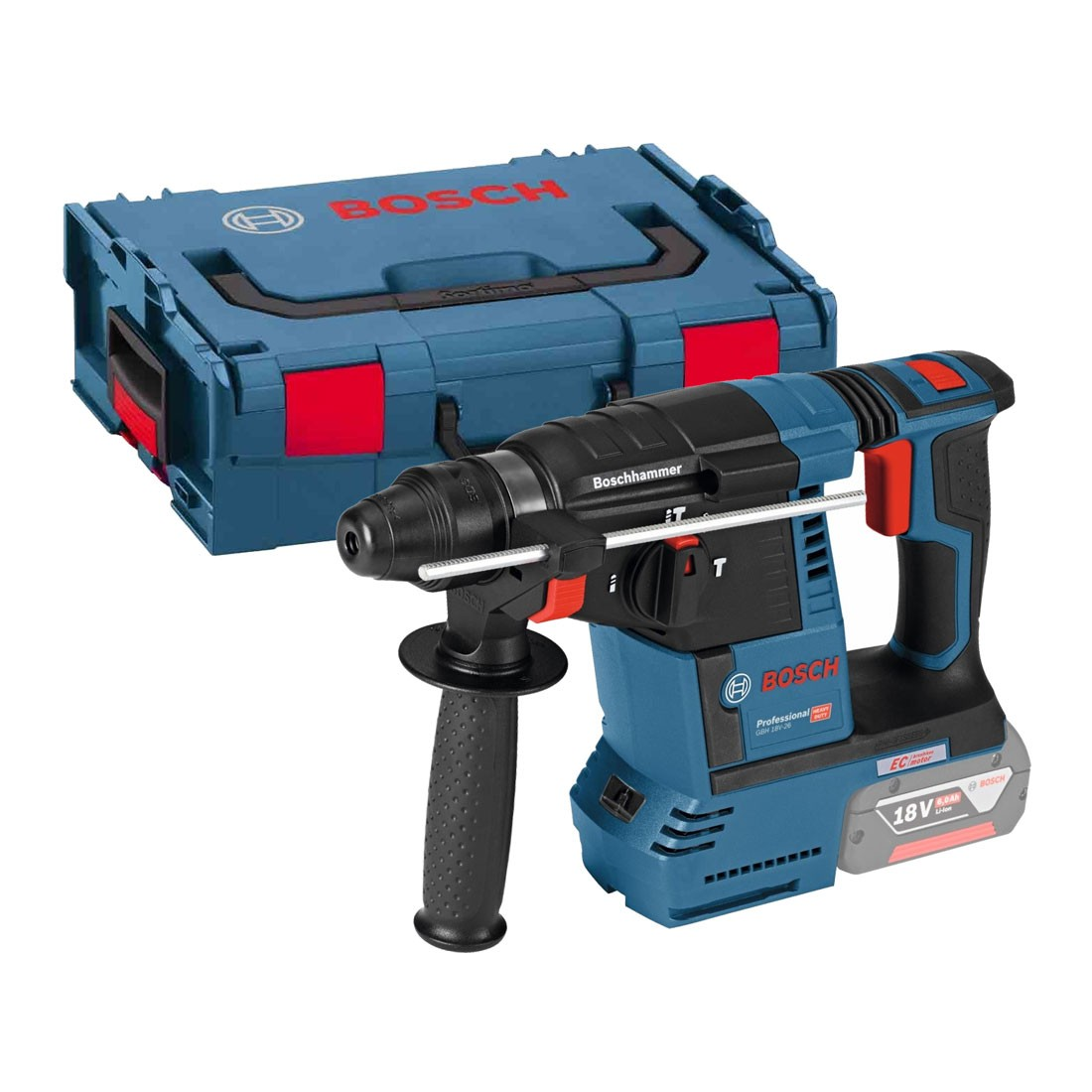 bosch gbh 18 v 26 sds plus brushless rotary hammer body only in l boxx 0611909001 powertool world. Black Bedroom Furniture Sets. Home Design Ideas