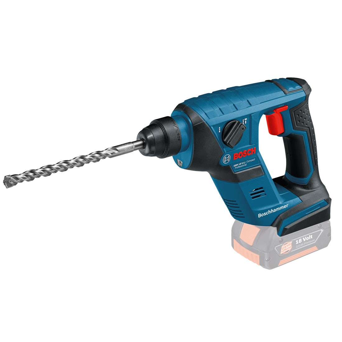 bosch gbh 18 v licp compact professional cordless sds plus rotary hammer body only 0611905300. Black Bedroom Furniture Sets. Home Design Ideas