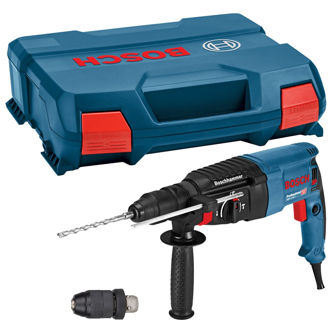 Gbh 226 Dfr 8990 Bor Rotary Hammer Bosch 3 28 Dre 2 26 F Sds Plus Drill In Carry Case With Qcc