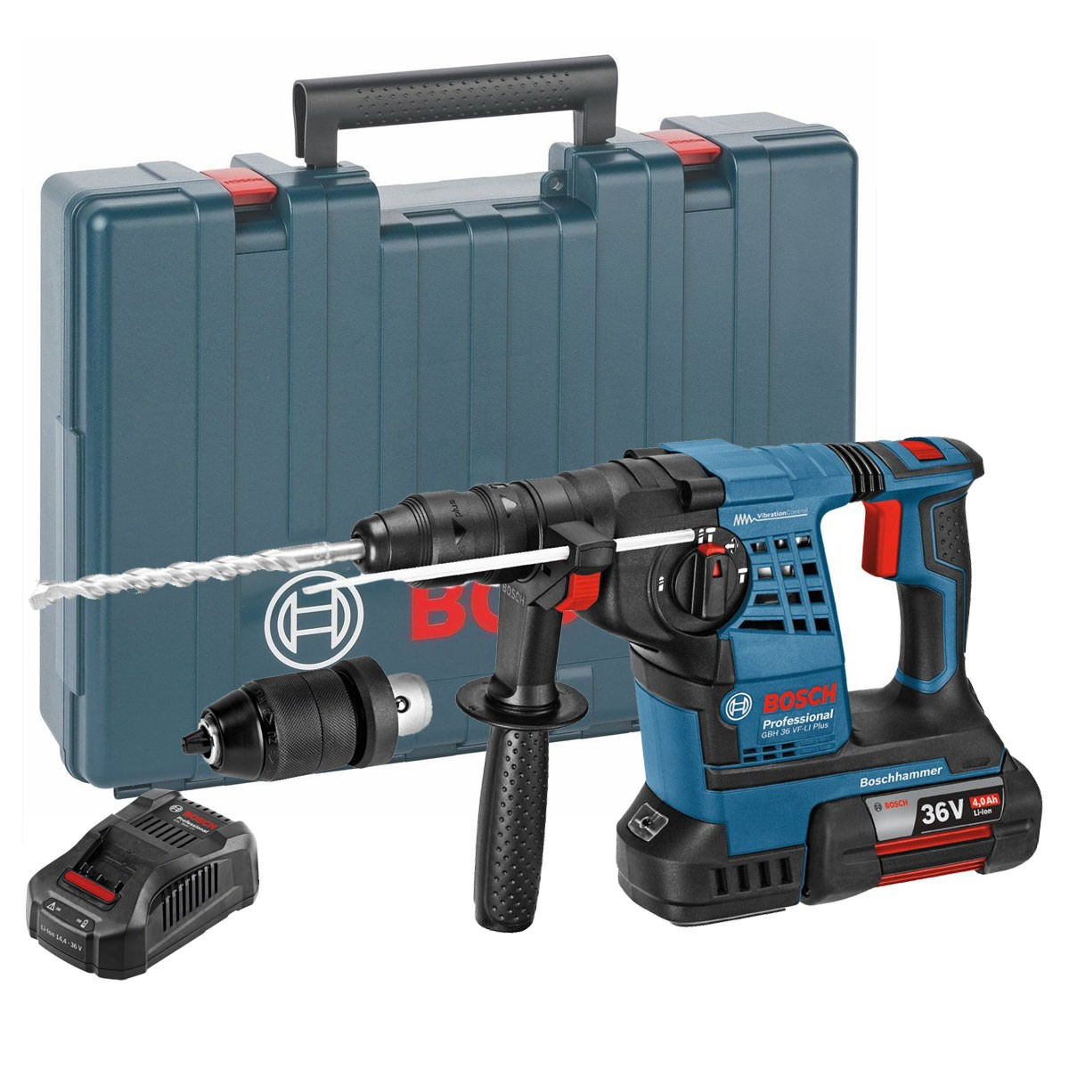 bosch gbh 36 vf li plus 36v sds rotary hammer inc 1x 4ah batt powertool world. Black Bedroom Furniture Sets. Home Design Ideas