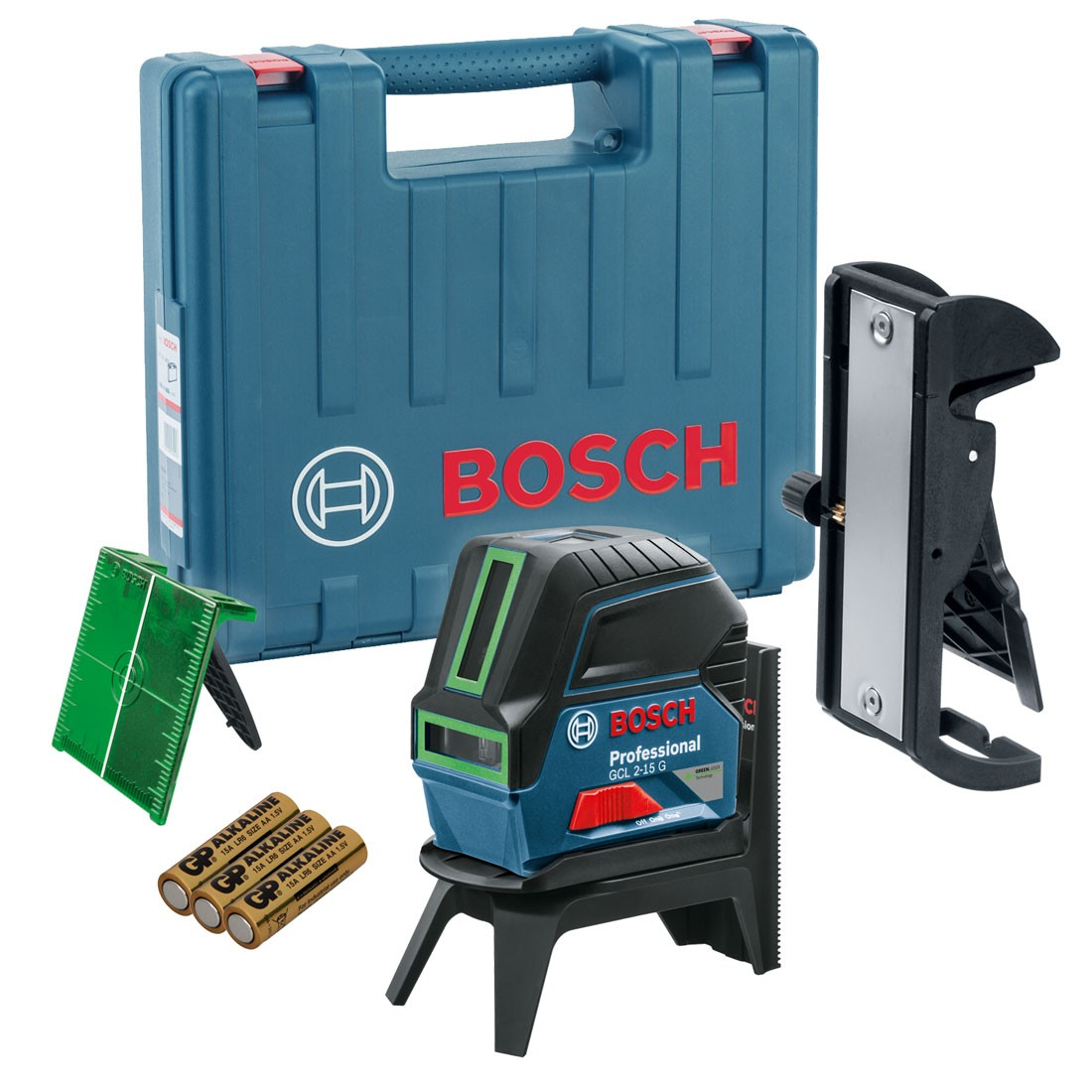 bosch gcl 2 15 g self levelling cross line laser with rm1 wall mount in carry case 0601066j00. Black Bedroom Furniture Sets. Home Design Ideas