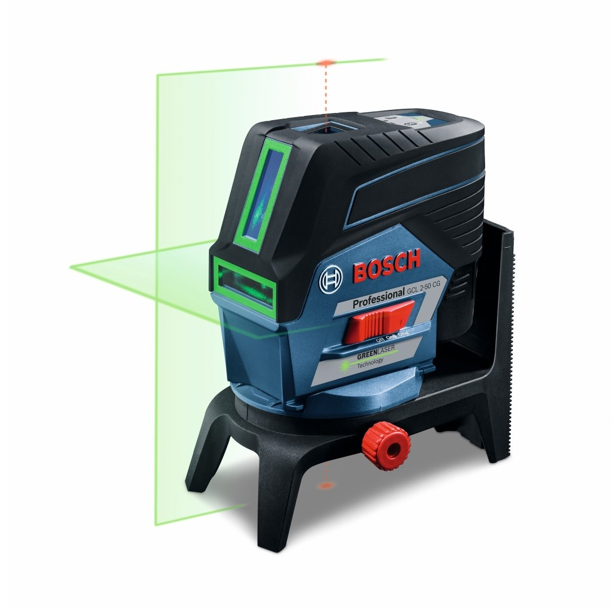 bosch gcl 2 50 cg green beam combi laser rm2 wall mount inc 1x 2 0ah batt 0601066h70. Black Bedroom Furniture Sets. Home Design Ideas