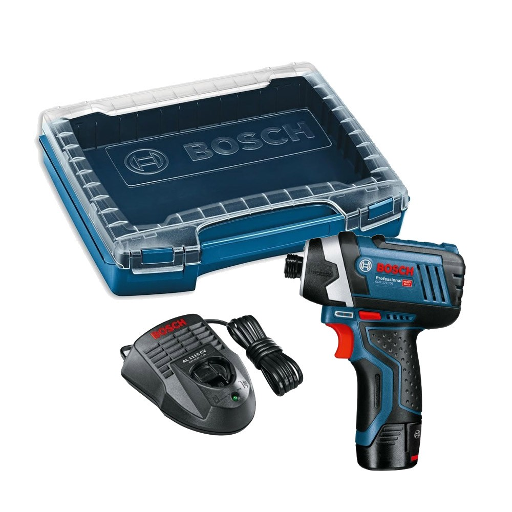 bosch gdr 10 8 li 12v 105 cordless impact driver inc 1x 2 0ah battery and charger in i boxx. Black Bedroom Furniture Sets. Home Design Ideas