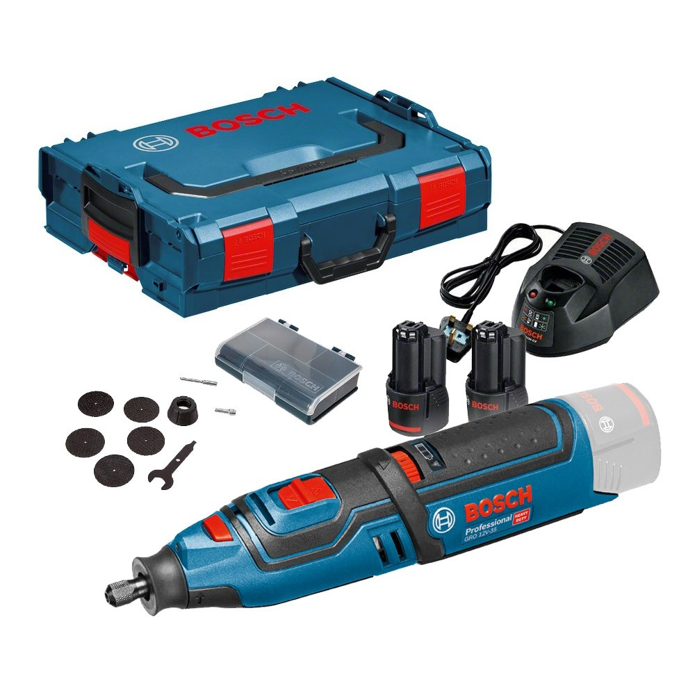 bosch gro 10 8 v li 12v 35 cordless rotary tool inc 2x 2. Black Bedroom Furniture Sets. Home Design Ideas