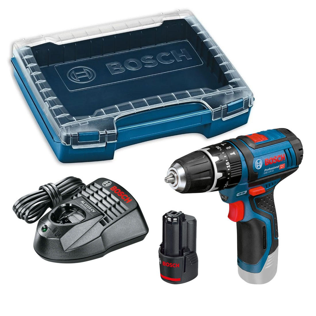 Bosch GSB 12V-15 (10.8-2-LI) Combi Drill inc 1x 2.0Ah Battery in iBoxx