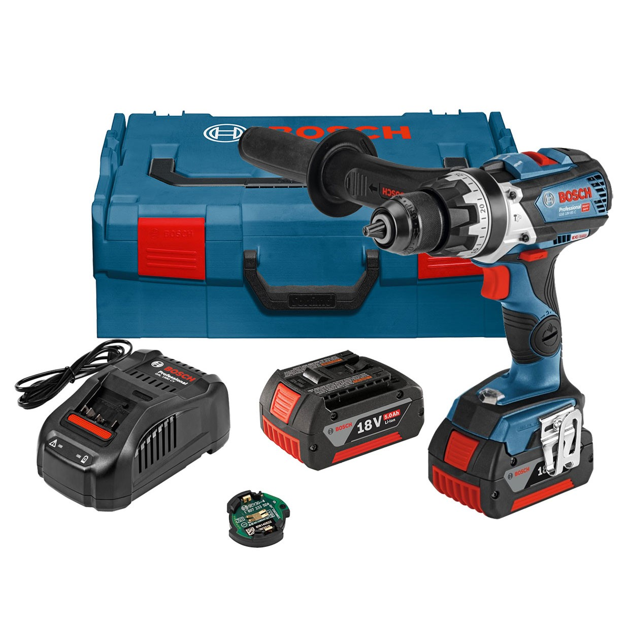 Bosch GSB 18 V-85 C Brushless Combi Drill inc GCY 30-4 Module & 2x 5.0Ah Batts