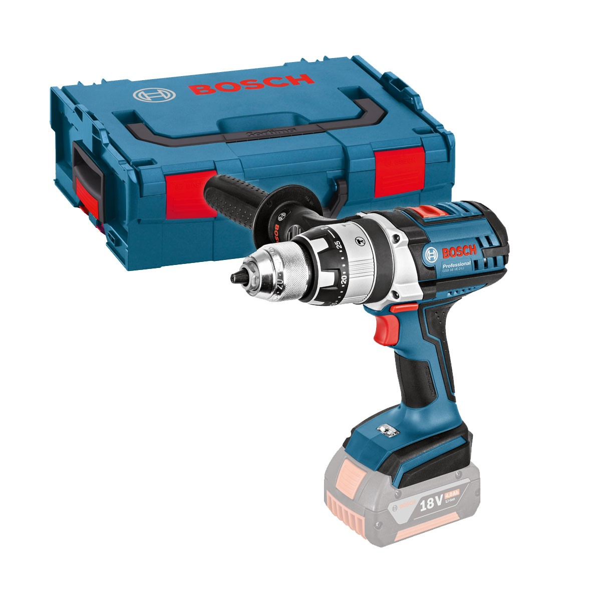 Bosch GSB 18 VE-2-LI RS Combi Drill Body Only in L-Boxx