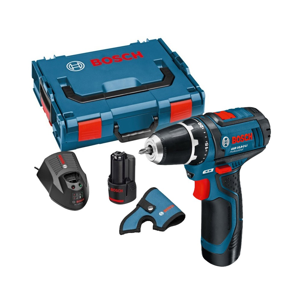 bosch gsr 12v 15 gsr 10 8 2 li drill driver inc 2x 2 0ah. Black Bedroom Furniture Sets. Home Design Ideas