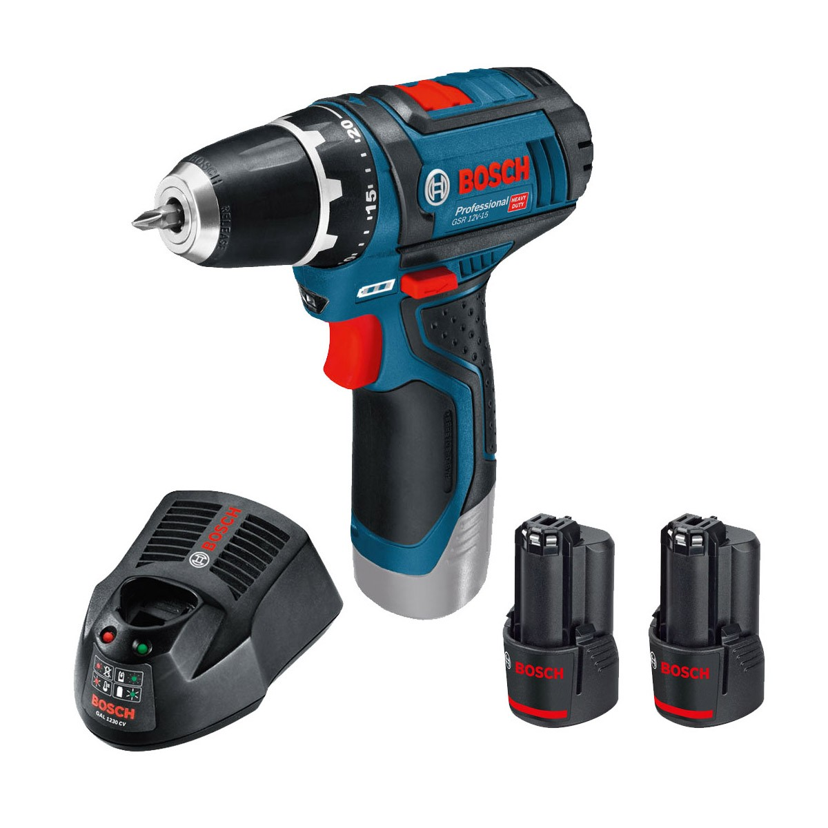 bosch gsr 10 8 2 li drill driver inc 2x 2 0ah batteries. Black Bedroom Furniture Sets. Home Design Ideas
