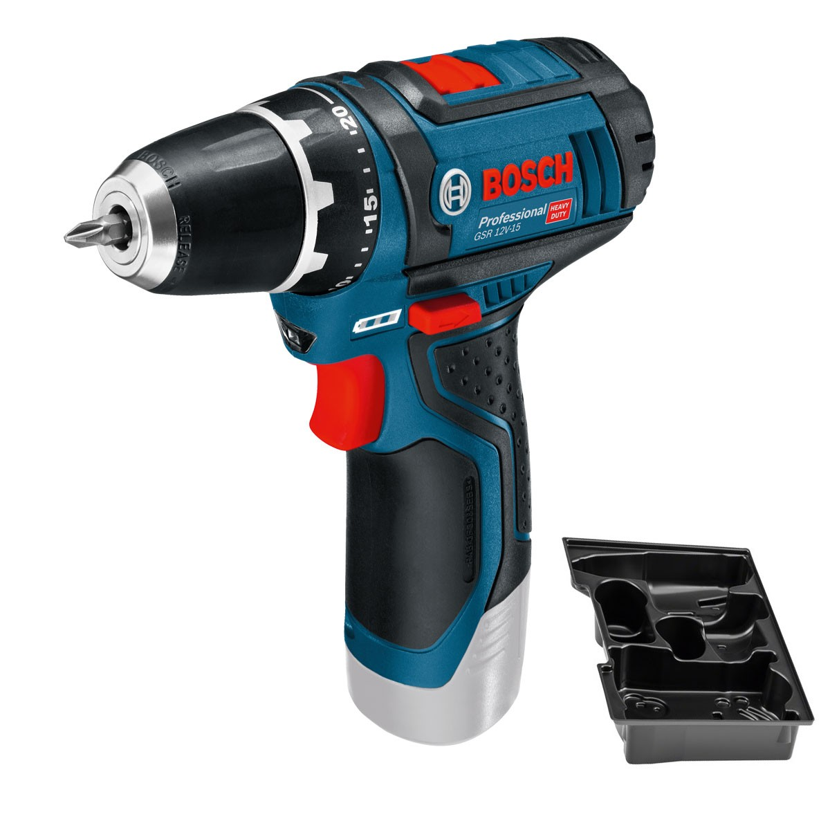 bosch gsr 12v 15 professional drill driver body only in carton powertool world. Black Bedroom Furniture Sets. Home Design Ideas